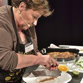 Huître - tartine liquide de seigle et gel de clémentine - Philou - Un Cuisinier chez Vous