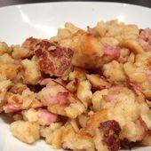 Farz buen salés (Pâte à crêpes épaisse cuite façon oeufs brouillés) pour un dîner facile et rapide! - C secrets gourmands!! Blog de cuisine, recettes faciles, à préparer à l'avance, ...