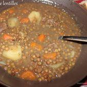 Soupe de lentilles à l'algérienne (3dess) - UneLiyaasDeBonnesChoses