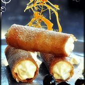 Cannelloni au mascarpone et Cerises Amarena