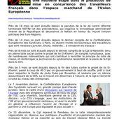 REGIONS : Comment développer l'emploi industriel sans remettre en cause radicalement la contre-réforme euro territoriale? - Front Syndical de Classe