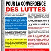 La fédération CGT de la chimie, POUR la CONVERGENCE des luttes le 10 octobre !