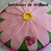 Gâteau d'anniversaire pour les 10 ans d'Adèle - Le blog de lesdelicesdethithoad