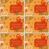 Etiquette confiture : Marmelade d'oranges