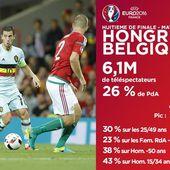 Audiences du dimanche 26 juin : Hongrie - Belgique loin devant. - LeBlogTvNews