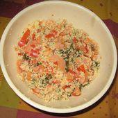 Salade de coucous au saumon fumé