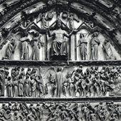 Bourges - Façade occidentale : le portail du Jugement dernier...