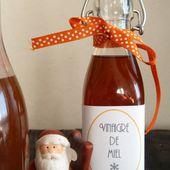 Vinaigre de miel {cadeau gourmand} - la gourmandise est un joli défaut