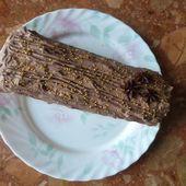 Bûche au Chocolat et aux Poires Pochées à la Badiane -