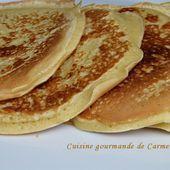 Pancake américain - Cuisine gourmande de Carmencita