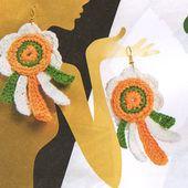 Tutoriel crochet - Boucles d'oreilles fleurs - Passionnement Créative