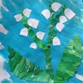 Découpage et collage sur le thème du 1 er mai (avec les enfants de maternelle et d´âge prescolaire) - Le blog de fannyassmat, le quotidien d'une assistante maternelle en mille et une anecdotes