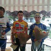 3eme étape du TSB en CLM à St Marcel (36) 2ème Pascal Montier (VC Rouen) et 3ème Clément Huguet (VS  Chartres)