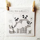 Famille de Pandas - ola.l.arte