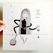 En méditant le temps - Aleksandra Sobol - Illustrations &amp&#x3B; Handmade