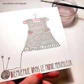 Carte tricot - naissance sur mesure - ola.l.arte