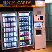 Au Japon, NTT installe des distributeurs de cartes SIM prépayées pour les touristes étrangers