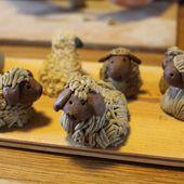 moutons de Noël - Mon arbre aux violettes