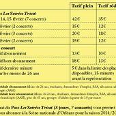 - SCENE NATIONALE D'ORLEANS : programme des SOIREES TRICOT 13 au 15 février 2015 Carte blanche au Tricollectif - VIVRE AUTREMENT VOS LOISIRS avec Clodelle