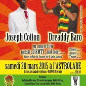 Rencontre avec DREADDY BARO en concert à l'ASTROLABE à Orléans SAMEDI 28 MARS 2015 - VIVRE AUTREMENT VOS LOISIRS avec Clodelle