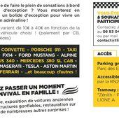1 MAX DE TOURS #2 ORLEANS : Baptême en voitures d'exceptions au profit du HANDICAP dès 10€ le 18 septembre Parc des expos - VIVRE AUTREMENT VOS LOISIRS avec Clodelle