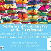 ANIMATIONS DEFILES DE MODE &amp&#x3B; EXPOSITION à Orléans les 6, 8, 9 et 10 septembre lors de la SEMAINE DU COMMERCE ET DE L'ARTISANAT - VIVRE AUTREMENT VOS LOISIRS avec Clodelle