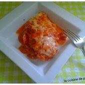 Esaclope de poulet gratiné à la tomate - La cuisine de poupoule