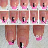 Comment réaliser des petits chats facilement en nail art? facile c'est ici &#x3B;-) - NailartAngel