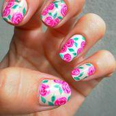 Des roses en nail art pour l'été..... &#x3B;-) - NailartAngel