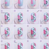 tutoriel roses Vintages - NailartAngel