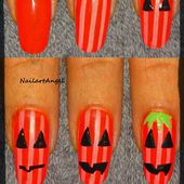 Tutoriel nail art citrouille, spécial halloween.( MISS EUROPE° - NailartAngel