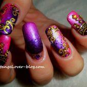 nail art Bollywood, motifs hindis, orientaux, de la couleur et de l'or pour vos ongles. - NailartAngel