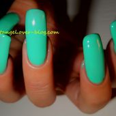 Présentation de vernis, Lovely Girl, MAKE UP PARIS, vernis menthe au lait, couleur printemps - NailartAngel