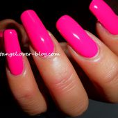 Swatch vernis, présentation de vernis rose girly, vernis rose intense Bell. - NailartAngel