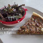 Tarte Campagnarde aux 4 Epices, de Mamigoz - Chez Mamigoz