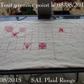 Album Plaid Broderie Rouge - Chez Mamigoz