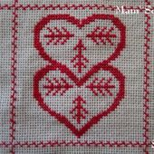 SAL : Plaid Broderie Rouge... Grille 51 I/3 - Chez Mamigoz