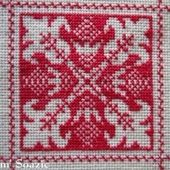 SAL : Plaid Broderie Rouge... Grille 2 / F4 - Chez Mamigoz