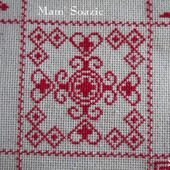 SAL : Plaid Broderie Rouge... Grille 52/ J2 - Chez Mamigoz