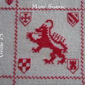 SAL : Plaid Broderie Rouge... Grille 75/E5 - Chez Mamigoz