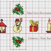 Fuseau et Dé pour Sapin ou autre déco de Noël - Chez Mamigoz