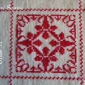 SAL : Plaid Broderie Rouge... Grille 36/F6 - Chez Mamigoz