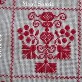 SAL : Plaid Broderie Rouge... Grille 84 / K5 - Chez Mamigoz