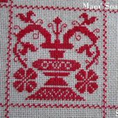 SAL : Plaid Broderie Rouge... Grille 25 / J6 - Chez Mamigoz