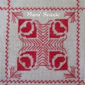 SAL : Plaid Broderie Rouge... Grille 29 / J8 - Chez Mamigoz