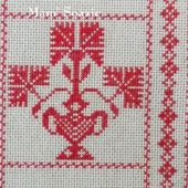 SAL : Plaid Broderie Rouge... Grille 71 / M7 - Chez Mamigoz