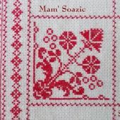 SAL : Plaid Broderie Rouge... Grille 79 / A9 - Chez Mamigoz