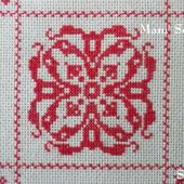 SAL : Plaid Broderie Rouge... Grille 69 / E9 - Chez Mamigoz