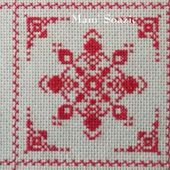 SAL : Plaid Broderie Rouge... Grille 67 / F10 - Chez Mamigoz