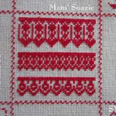 SAL : Plaid Broderie Rouge... Grille 57 / J10 - Chez Mamigoz